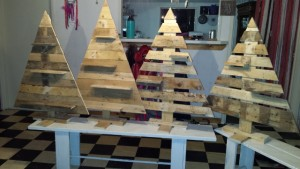 Sloophouten kerstbomen workshop
